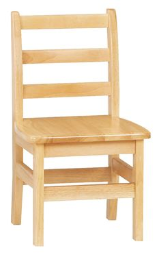 """12"""" Children's Chair w/ Ladder Back Style, Wood – Natural"""