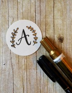 Basic Hand Lettering: Drawing a Monogram - One Artsy Mama