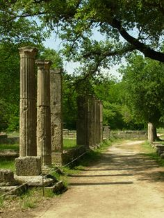 a beautiful path to stroll along with the amazing remnents of Greece to ponder