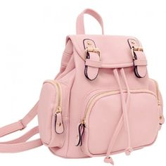 Fiswiss Women's Genuine Leather Backpack Casual Backpack Purse With big zippers Lace Backpack, Backpack Bags, Leather Backpack, Mini Backpack, Drawstring Backpack, Cute Backpacks, Girl Backpacks, Fashion Bags, Fashion Backpack