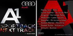 """""""Audi A1 Sportback Next Track by Alex Midi"""" te presenta a los 8 tracks ganadores. Descarga el material de tu banda favorita a través de la aplicación. https://www.facebook.com/AudiA1Mexico/app_401037733275148"""