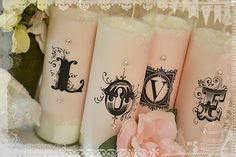 Decorative Candles- DIY wedding