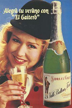 Cartel publicitario de Sidra Champán El Gaitero, 1987