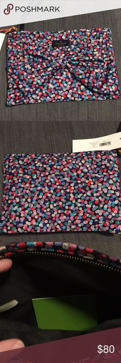 "NWT Kate Spade ""Dance Party"" wristlet NWT Kate Spade ""Dance Party"" wristlet. Interior is black. Wristlet strap is not removable. 10"" x 7"" kate spade Bags Clutches & Wristlets"