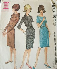 60's dress with different necklines