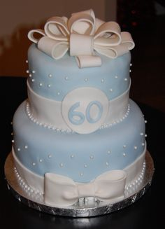 60th Birthday Cake & 109 best Cakes - 60th Birthday images on Pinterest | Anniversary ...