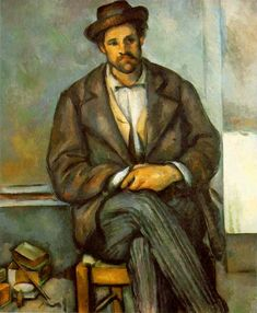 Cezanne, Paul    [French Post-Impressionist Painter, 1839-1906]       Seated Peasant  1895-1900  Oil on canvas  21 1/2 x 17 3/4 in.  The Annenberg Collection~