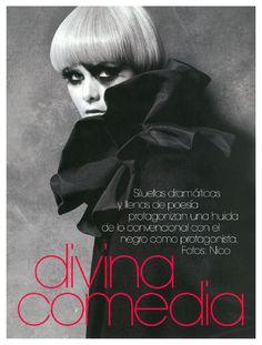 Divina Comedian   Flavia Oliveira   Nico #photography   Vogue España December 2007