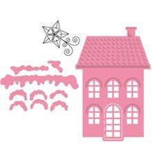 Šablona Collectables a razítko Domeček a hvězda Felt Diy, Felt Crafts, Fabric Crafts, Sewing Crafts, Paper Crafts, Online Craft Store, Craft Stores, Christmas Love, Xmas
