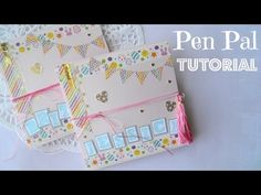 Pen Pal Letter Tutorial - Squash Book - YouTube