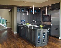 [ Dark Grey Kitchen Cabinets Decora Cabinetry Gray ] - Best Free Home Design Idea & Inspiration Dark Grey Kitchen Cabinets, Grey Kitchens, Painting Kitchen Cabinets, Kitchen Cabinet Design, Kitchen Paint, Blue Cabinets, Taupe Kitchen, Colored Cabinets, Cosy Kitchen
