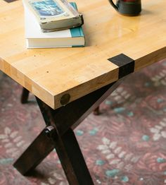 X Base Reclaimed Maple Work Table | Home Furniture | Kith & Kin | Scoutmob Shoppe | Product Detail