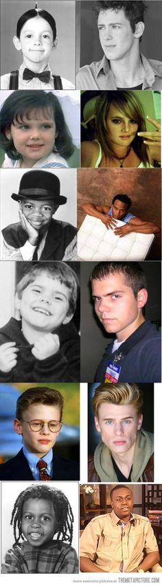 The Little Rascals cast, then and now...spanky rockin' the walmart name tag.