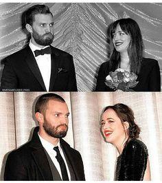 Dakota Johnson & Jamie Dornan. Fifty Shades of Grey Promo vs. Fifty Shades Darker Promo