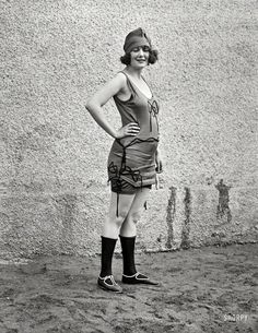 "June 17, 1922. ""Washington Advertising Club bathing costume contest at Tidal Basin."" #bikini #fashion"