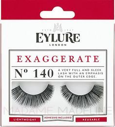 Eylure Naturalites EXAGGERATE Lashes N° 140 enhance the natural beauty of your eyes with very full and sleek lash with an emphasis on the outer edge.  #Exaggerate lashes #falsies #madamemadeline