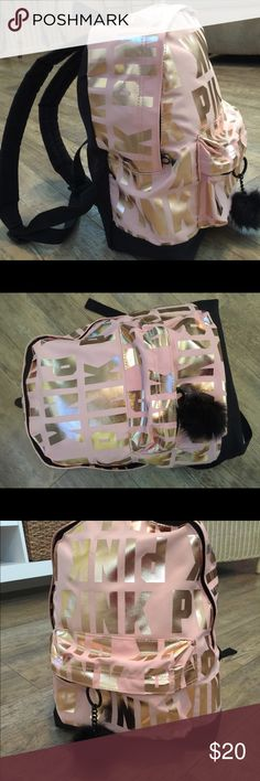 Rose Gold Backpack Pink Victoria's Secret Rose Gold Backpack Pink Victoria's Secret. 🎒 Great condition from smoke and pet free home 🏠 PINK Victoria's Secret Bags Backpacks