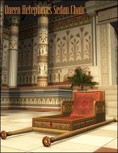 Queen Hetepheres' Sedan Chair in Places and Things, Props, Furniture,  3D Models by Daz 3D