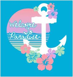 Orr even this as a bid day shirt!! Ya know, welcoming the girls to paradise? It could be the back of a tank or something and then the front have a little tropical DG logo.