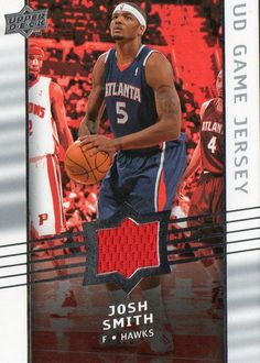 2008-09 Upper Deck Josh Smith Game Jersey Atlanta Hawks