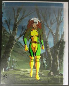 Marvel X Men Animated Series Rogue Full Body Pose Animation Cel Animation Rogues X Men