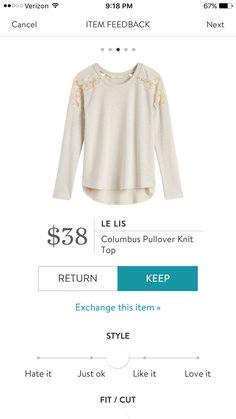 Stitch Fix Le Lis Columbus Pullover knit top