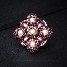 Купить «Обещание» брошь из жемчуга и кристаллов Swarovski - брошь из бисера…
