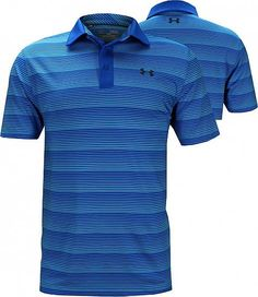 2016 Under Armour ColdBlack® Chip In Stripe Performance Mens Golf Polo Shirt Green Malachite Medium oyGnF