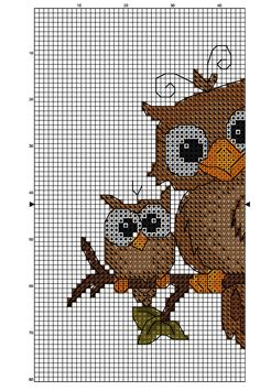 owls on a branch part 2/3