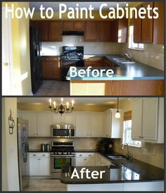 Parents of a Dozen: How to Paint Kitchen Cabinets for A FRACTION OF BUYING A NEW KITCHEN!!! This is an amazing update!!