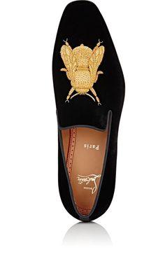 Christian Louboutin Dandybee Velvet Venetian Loafers | Barneys New York