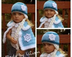 Pattern ONLY 2 piece-Crochet Queen Elsa Cape and por MadeByLilian