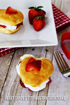 Heart Shaped Strawberry Shortcake