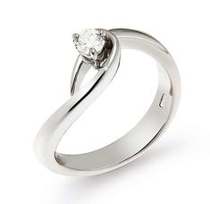 Unique Solitaire Engagement Diamond Ring 0.17 CT MADE IN ITALY, OR2255G-B