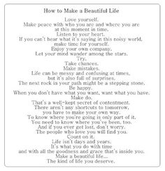My mom sent this to me on my 17th birthday i've always and will always love it, it's also my wish for Ava<3