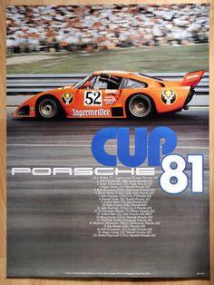 orginal-Porsche-Plakat-Renn-Poster-034-Porsche-Cup-034-1981-Jaegermeister-Porsche-935