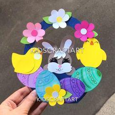 Easter crafts for kids chiken egg basket spring Craft Stick Crafts, Fun Crafts, Paper Crafts, Diy Niños Manualidades, Diy Ostern, Egg Basket, Unicorn Crafts, Paper Flowers Diy, Easter Crafts For Kids