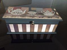 Caixa de Chá retangular