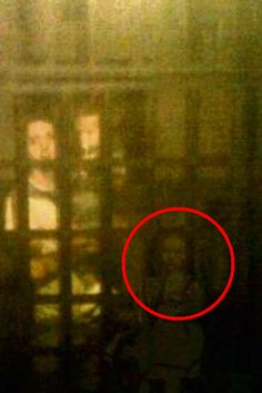 Haunting Image Of Ghost Discovered On Old Phone  A family were [sic] spooked when they discovered ghostlike pictures of a little girl in Victorian costume shadowing them from room to room around a museum.  John Burnside came out in goose bumps with he found the images of the child lurking in the background on his phone two years after they were taken.  Full Article