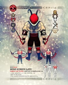 back exercise: lat flyes krampus - Tap the pin if you love super heroes too! Cause guess what? you will LOVE these super hero fitness shirts!