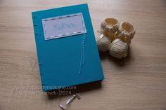 Babytagebücher - Handgebundenes BABYTAGEBUCH - Türkis - ein Designerstück von mpodleisek bei DaWanda