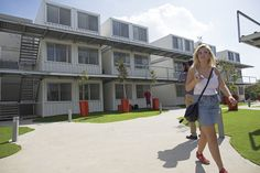 Recycled shipping containers - used to create housing for Israel students in Sderot.