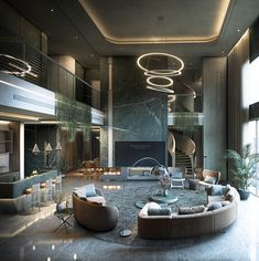 Dream House Interior, Luxury Homes Dream Houses, Luxury Interior, Modern Mansion Interior, Flat Interior, Interior Lighting, Big Living Rooms, Casas The Sims 4, Big Bedrooms