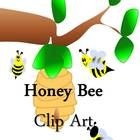 This product includes 12 original honey bee (.png) clip art pieces.