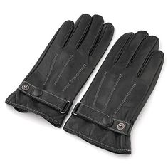 Gloves - black leatherette, touch screen enabled $45