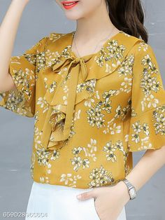clothes for women,womens clothing,womens fashion,womans clothes outfits Cute Blouses, Blouses For Women, Blouse Styles, Blouse Designs, Cheap Womens Tops, Online Dress Shopping, Online Shopping For Women, Bell Sleeve Blouse, Trendy Tops