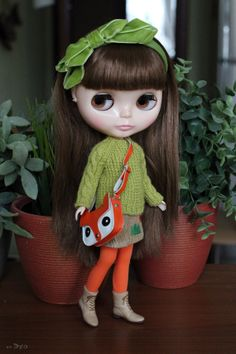 Knitted sweater with cables for Blythe par EchoForDolls sur Etsy
