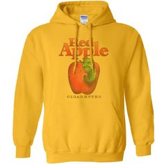 Red Apple Cigarettes Hoodie - Yellow / 2XL