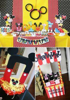 Ideias para decoração de festa infantil com o tema Mickey e Minnie