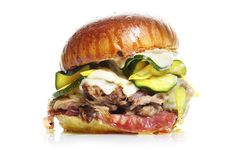 Cuban Sandwich with Zucchini Pickles Park 121 makes its own zucchini pickles for these messy (in a good way) sandwiches; substitute with thi... #BonAppetit